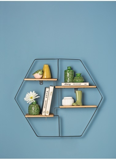 Warm Design Kabartmalı Seramik Vazolar Yeşil
